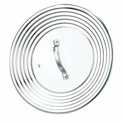 "Cook N Home 02425 Universal Lid, 10 to 12"", Metallic New"