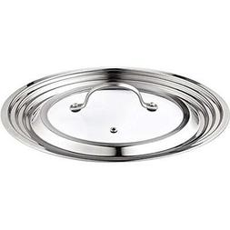 Cook N Home Stainless Steel with Glass Center Universal Lid,