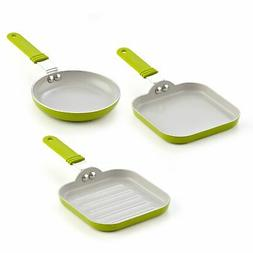 Cook N Home 02583 5.5-Inch Nonstick Ceramic Mini Fry, Griddl