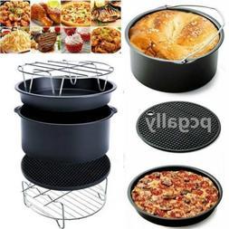 1 Set Air Frying Pan Accessories Fryer Baking Basket Pizza P