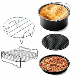 1 Set Air Frying Pan Accessories Fryer Baking Basket Pizza P