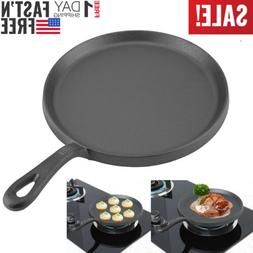 "10"" Non Stick Frying Pan Skillet Cast Iron Steak Cookware Po"