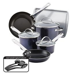 Farberware Luminescence Aluminum Nonstick Cookware Set, Sapp