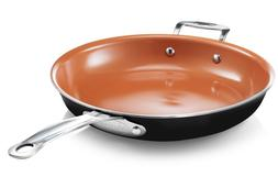 "Gotham Steel 12.5"" Nonstick XL Copper Premium Fry Pan - 5 Vi"