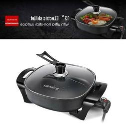 12'' Electric Skillet Non Stick Electric Frying Pan Electric