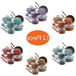 12 Piece Rachael Ray Cucina Hard Porcelain Enamel Nonstick C