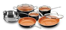 Gotham Steel 1457 10 Piece Kitchen Nonstick Frying Pan and C