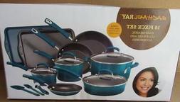 Rachael Ray 16 PIECE Hard Enamel Nonstick Cookware Set Pots