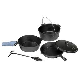 Stansport 16903 Cast Iron Cook Set - Pre Seasoned