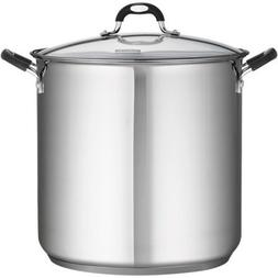 18/10 Stainless Steel 22-Quart Covered Stockpot by Tramontin