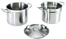 20 Qt. 18/8 Stainless Steel Double Boiler with Cover Lid Com