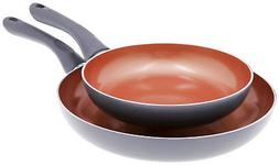 Homemaker 2-Piece Copper Ceramic Chef Non Stick Omelet Fryin