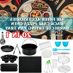 20 in 1 8'' Air Fryer Accessories Rack Cake Pizza Oven Barbe