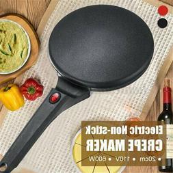 20cm Electric Non Stick Crepe Maker Baking Pancake Pan Fryin