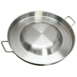 "22"" Round Stainless Steel Concave Comal Bola Taco Grill Pan"