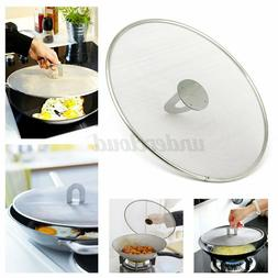 29/33cm Kitchen Frying Pan Splatter Screen Stainless Steel O