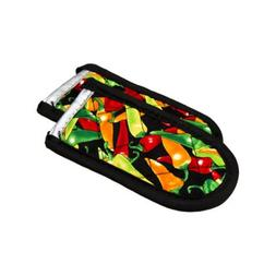Lodge 2HHMC2 Hot Handle Holders/Mitts, multi-color Peppers,