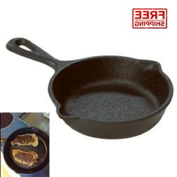 "Lodge 3.5"" Cast Iron Mini Skillet LMS3 Seasoned Frying Pan C"