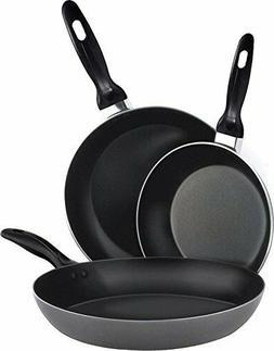 """3 Piece Aluminum Nonstick Frying Pan Set 8"""", 9.5"""", 11"""" Cookw"""