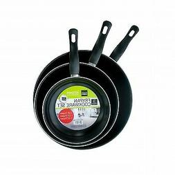 "3 Piece Frying Pan Cookware Set 8"", 10"" and 12"" Non-Stick Pa"