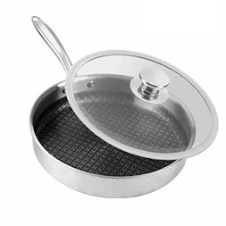 304 stainless steel Flat pan Frying pan steak Omelette Pot G