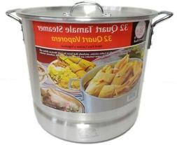 32 Qt Tamale Steamer Vaporera Stock pot Premium Aluminum 8 G