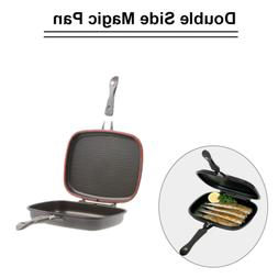 Frying & Grill Pans Cookware, Dining & Bar Die-cast Frying Pan Double Sided Magic Fordable Flipping Griddle 36cm Pink