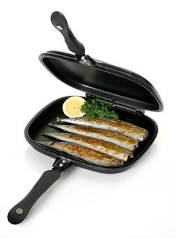 Cuisine, Arts De La Table Double-sided Frying Pan Non-stick Barbecue Cooking Tool