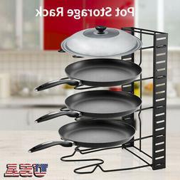 5 Tiers Pot Storage Rack Frying Pan Lid Organizer Kitchen Co