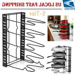 5Tier Pot Lid Rack Frying Pan Organizer Height Adjustable Ki