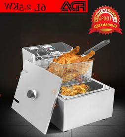 6L Electric Fryer Deep Pan Commercial Tabletop Restaurant Fr