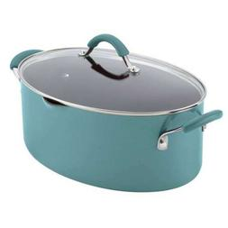 Rachael Ray Cucina 8-Quart Covered Oval Pasta Pot with Pour