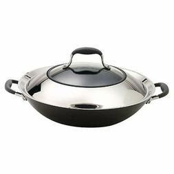 Anolon Advanced Hard Anodized Nonstick 14-Inch Covered Wok w