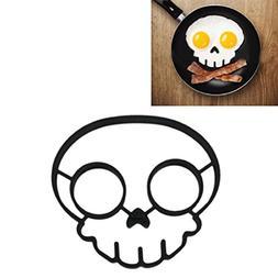BinmerEgg Mold Non-stick Silicone Novelty Skull Egg Fried Fr