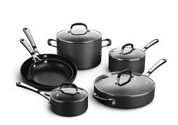 Calphalon Nonstick Cookware Set 10 pc Pot Saucepan Frying Ca