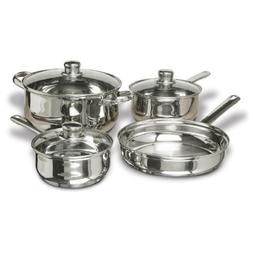Concord Cookware SAS1700S 7-Piece Stainless Steel Cookware S