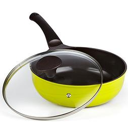 Cook N Home Nonstick Ceramic Coating Die Cast Deep Saute Sti