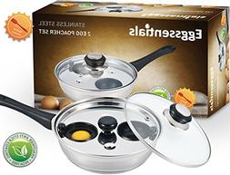 Eggssentials Poached Egg Maker - Nonstick 2 Egg Poaching Cup