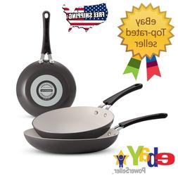 Gray - Tramontina 3-Pack Ceramic-Reinforced Nonstick Fry Pan