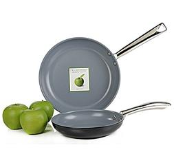 GreenPan Classic Collection 2 Piece Non-Stick Fry Pan Set wi