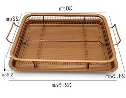 HOT,rectangle,Deluxe Copper Crisper,Air Fryer in Oven,Ideal