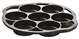 Lodge Cast Iron Mini Cake Pan. Pre-seasoned Cast Iron Cake P
