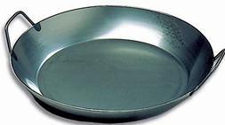 Matfer Bourgeat 062052 Black Steel Paella Pan, 15-3/4 In. Di