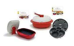 Microhearth Cookware Set  for Microwave Oven, Red