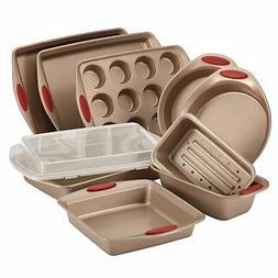 Rachael Ray Cucina Nonstick Bakeware 10-Piece Set, Latte Bro