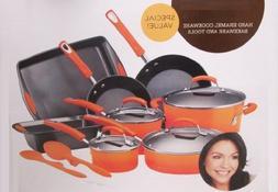 Rachael Ray Hard Enamel Cookware Bakeware Set - 14 piece
