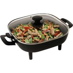 Rival S11P-015 11-Inch Square Skillet with Glass Lid, Black