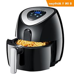 Tidylife Air Fryer, 4.5 Quarts 8-in-1 Digital Touchscreen No