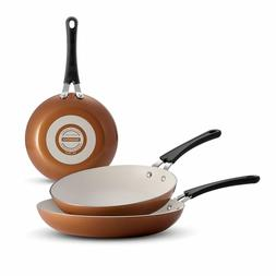 ceramic reinforced nonstick fry pans set of