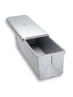 USA Pan Bakeware Pullman Loaf Pan with Cover, 13 x 4 inch, N
